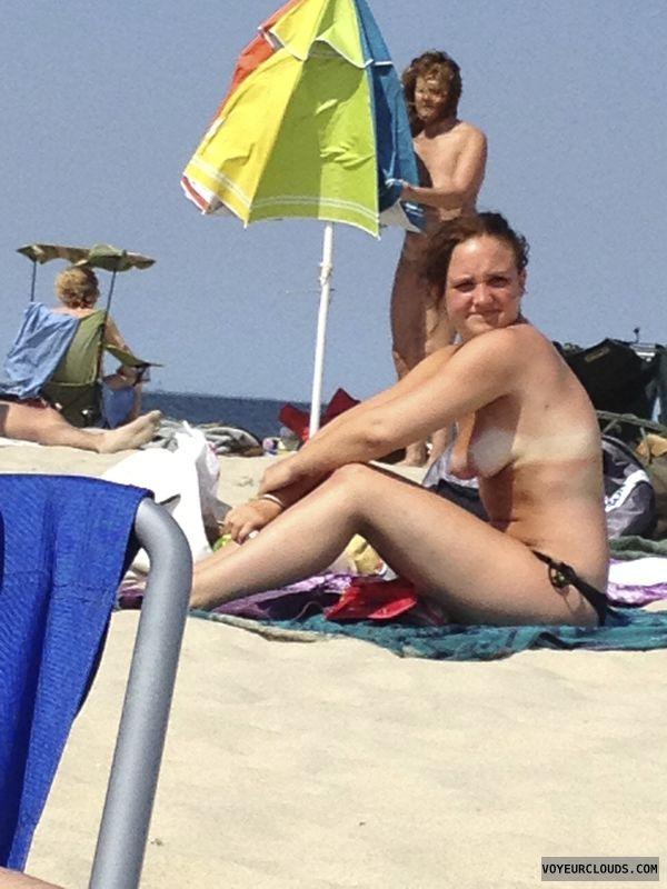 beach, topless, tits