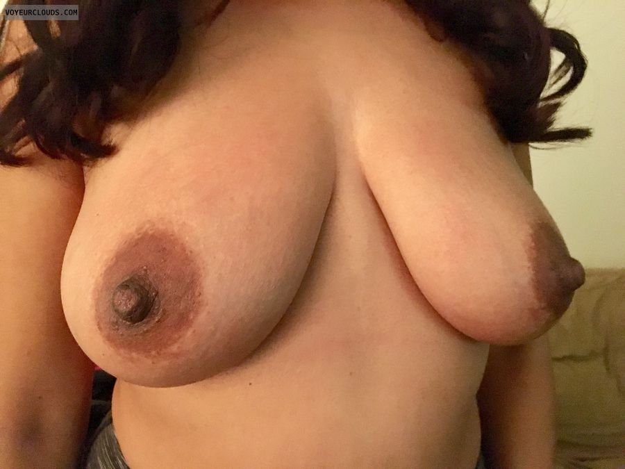 hard nipples, dark areolas, big boobs, big tits, topless