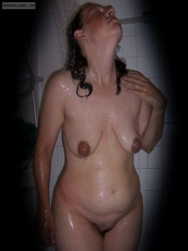 Nude wife, Shower, Harlot, Okay, Hairy pussy, Vintage