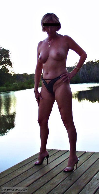 topless, hard nipples, outdoors, tits, boobs, posing