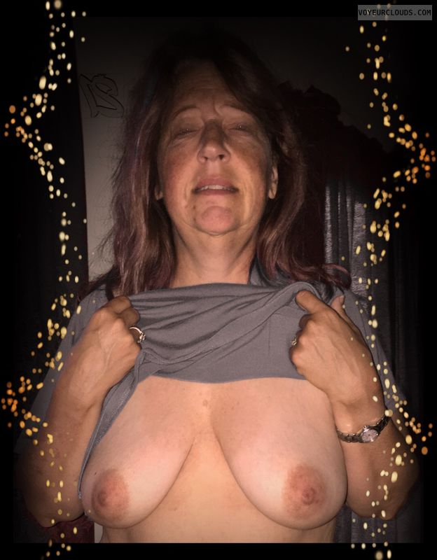 Titflash, Small boobs, Older, Okay, Saggy tits