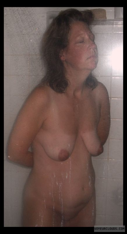 Nude wife, Shower, Okay, Older, Wife boobs