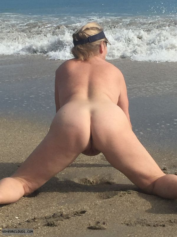 ass, pussy, doggie, nude, beach