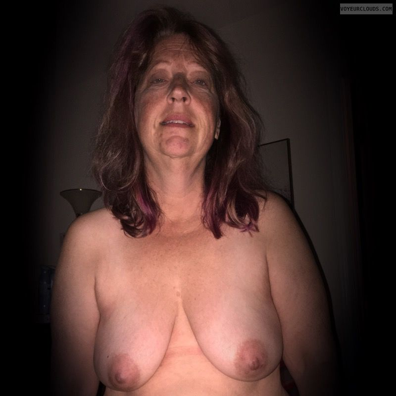 Wife tits, Saggy tits, Nice smile, Older, Okay, OK tits