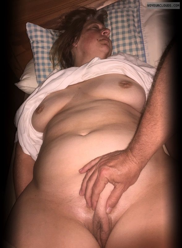 Hairy pussy, Full frontal, Saggy tits, Older, Harlot