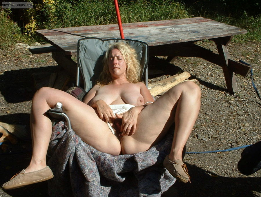 tits, big tits, nipples, big nipples, boobs, camping