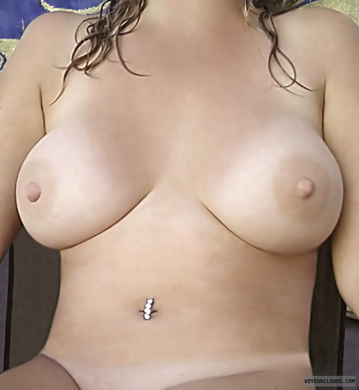 Topless, Tits, Hard Nipples, Horny Wife, Tanlines