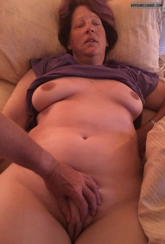 Wife pussy, Saggy tits, Older, Okay, Pussy lips, Full frontal