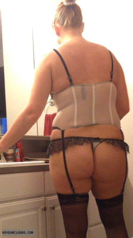 Lingerie, thong, ass
