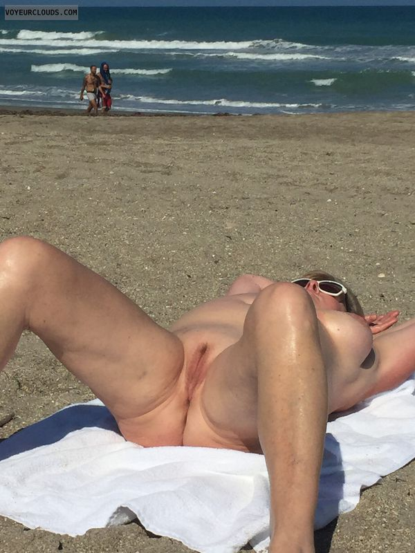 beach, sand, nude, pussy, ass, tits, legs, thighs