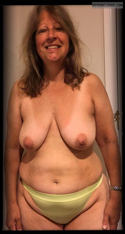 Nice smile, Saggy tits, Big hips, Little boobs, Older