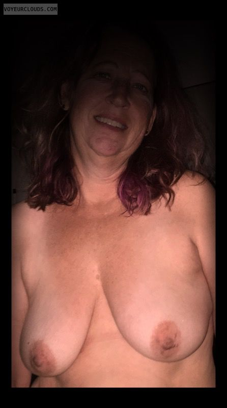 Nice smile, Little boobs, Saggy tits, Older