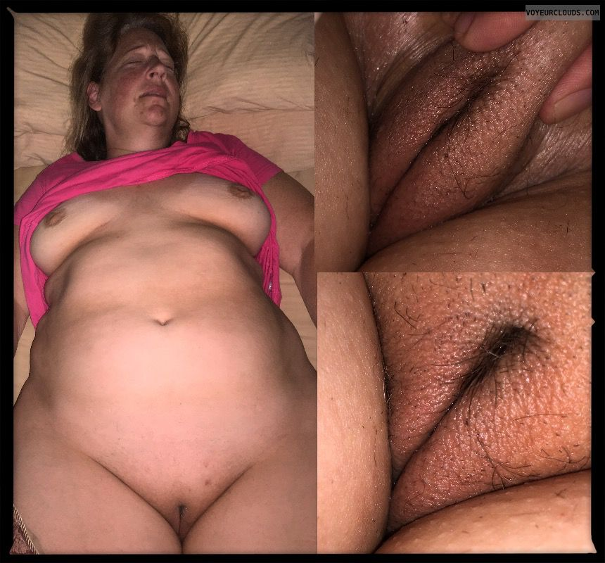 Pussy lips, Older, Full frontal, Hairy pussy, Saggy tits