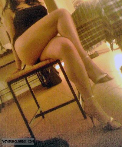 legs, high heels, julie, wife, sexy, miniskirt, crossed legs