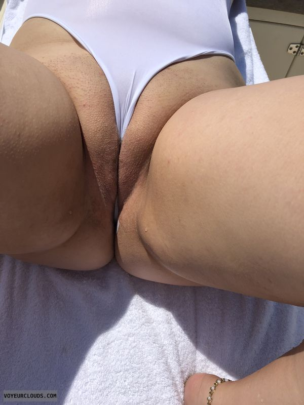 Shaved pussy, pussy, legs, wicked weasel, bathing suit