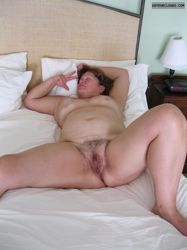 pussy, spread eagle, mature, milf, tits, hairy, legs spread