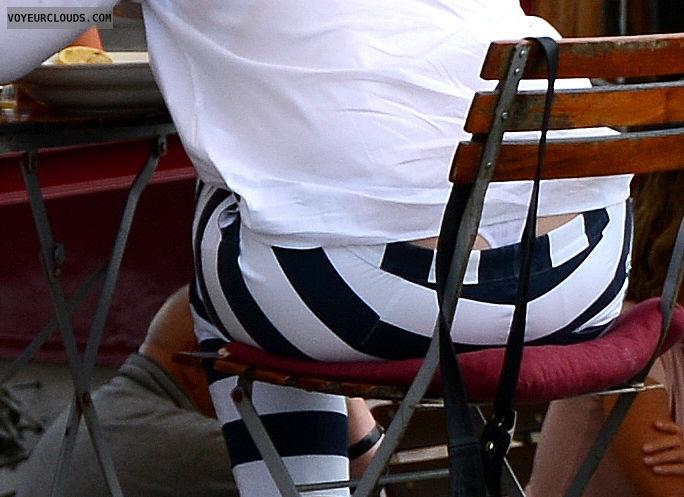 thong, PT, white panty, sailor stripe pants