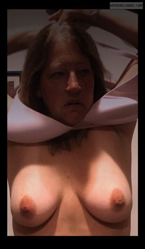 Little boobs, Dark nips, Older
