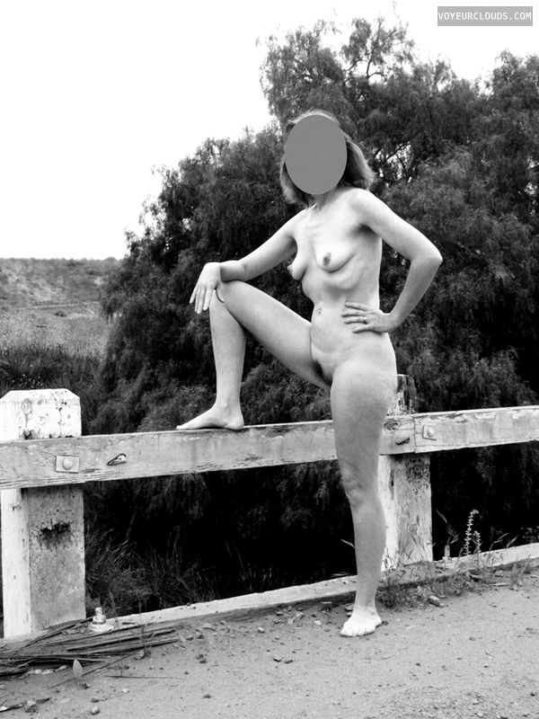 Exhibitionist, Erotic Art, Vintage, Outdoors, Side of the Road