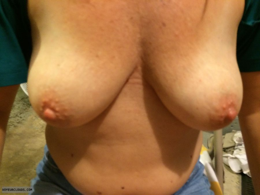 hard nipples, topless, big boobs, big tits, tanlines
