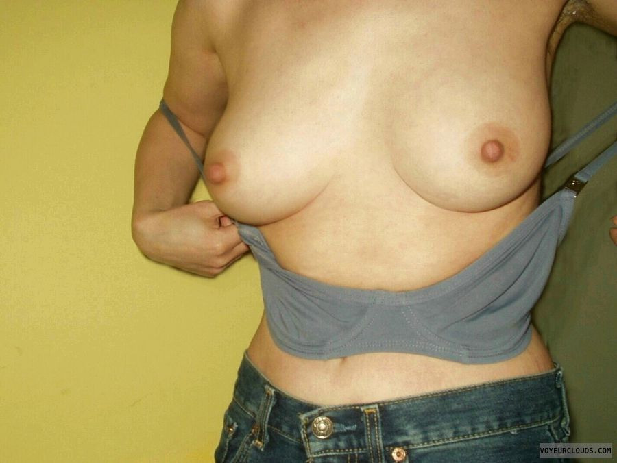 Mature,  woman, Tits, Hard nipples, Pink nipples, Bra