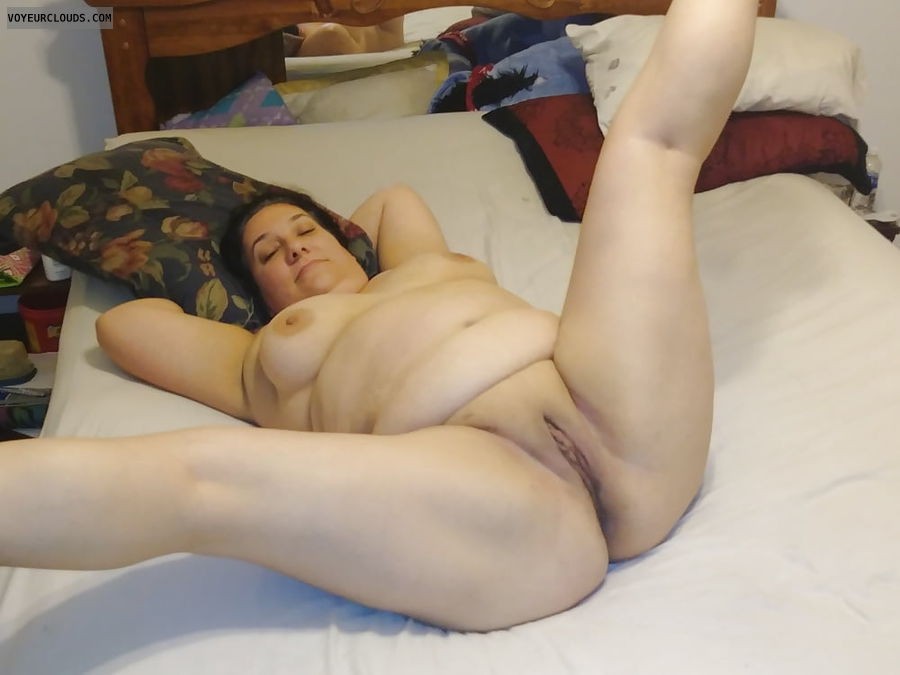Spread eagle,  tits,  ads,  legs spread,  bbw,  thick wife