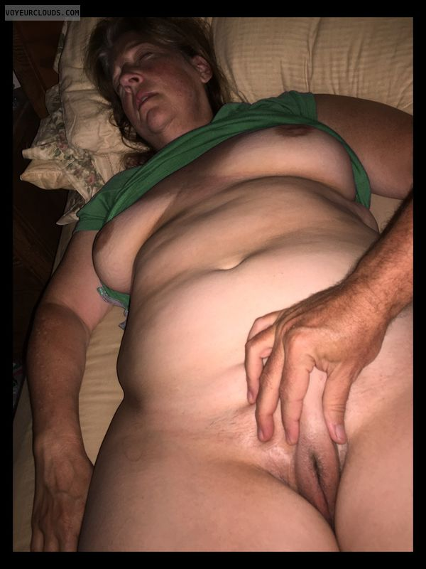 Full frontal, Wife pussy, Labia majora, Older, OK Pussy