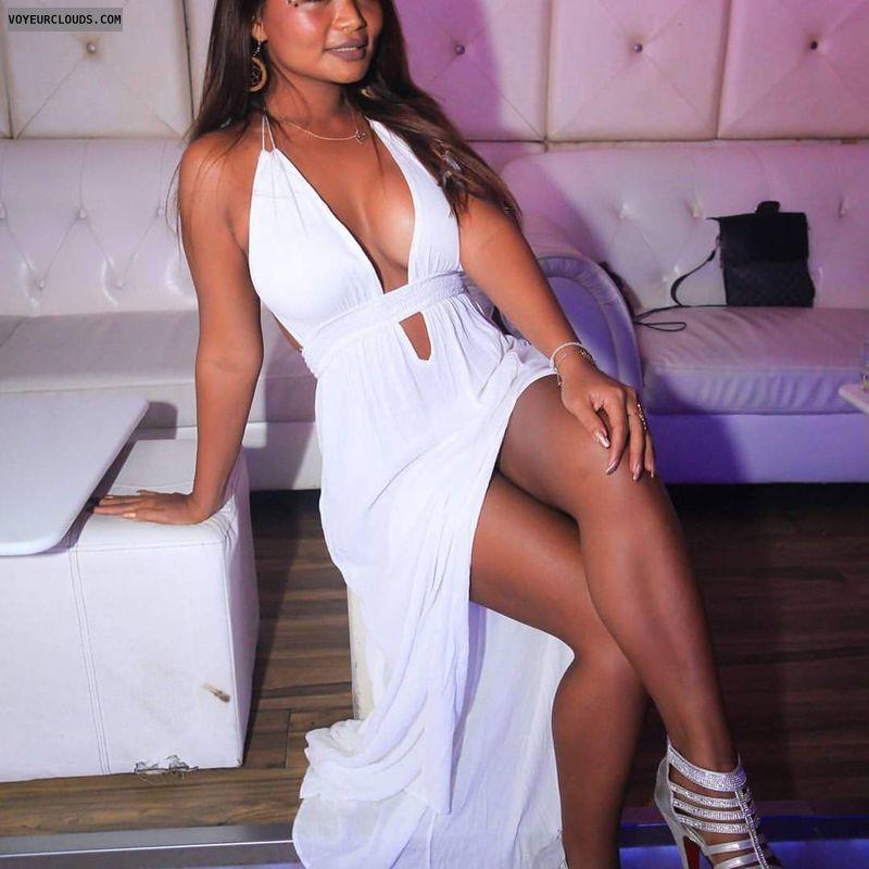 my big breasts, my fuck me heels, my tanned legs, long black hair