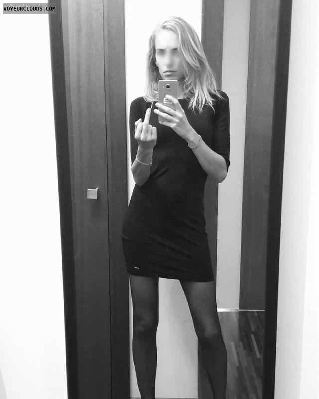 Miniskirt, fuckfinger, slimblond, Tender legs