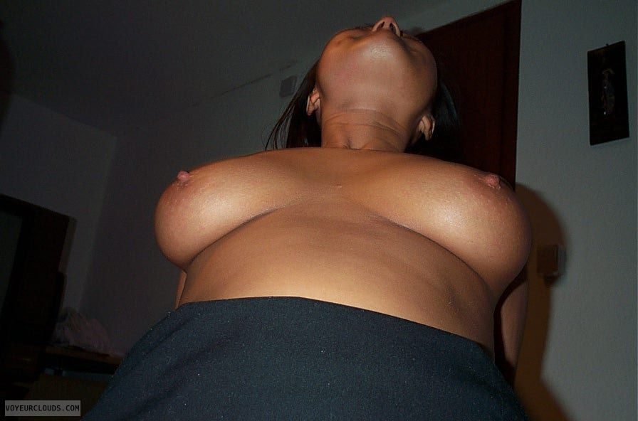 Cockriding, large, asian, tits, super, hard, nipples