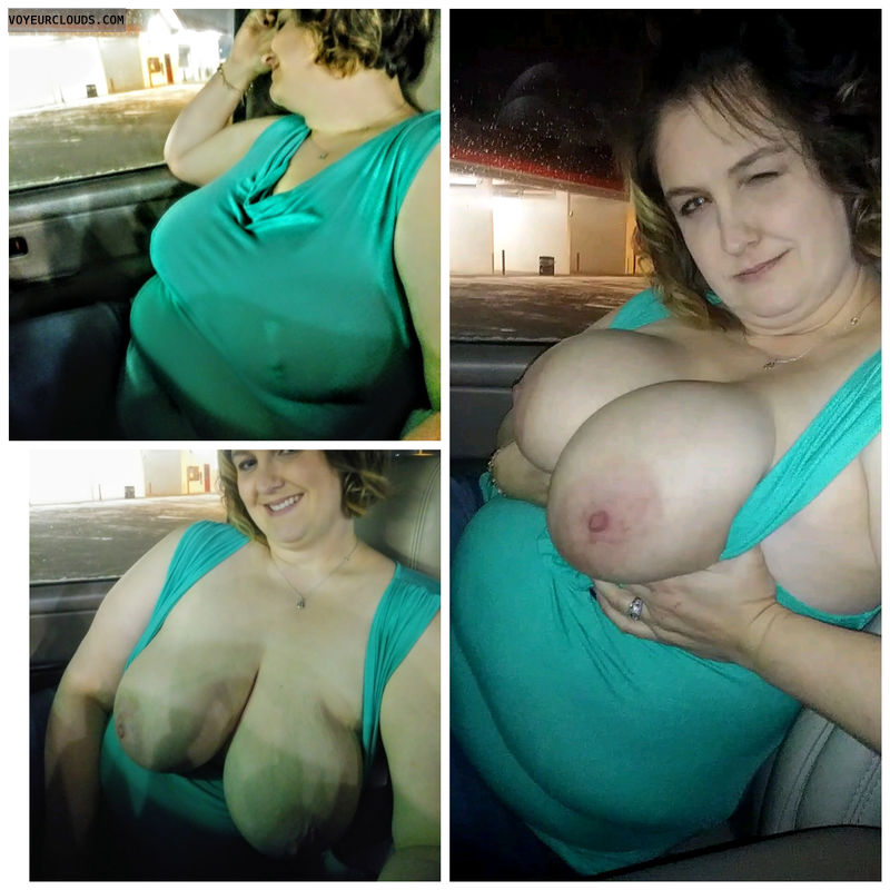 No bra, wife, bbw