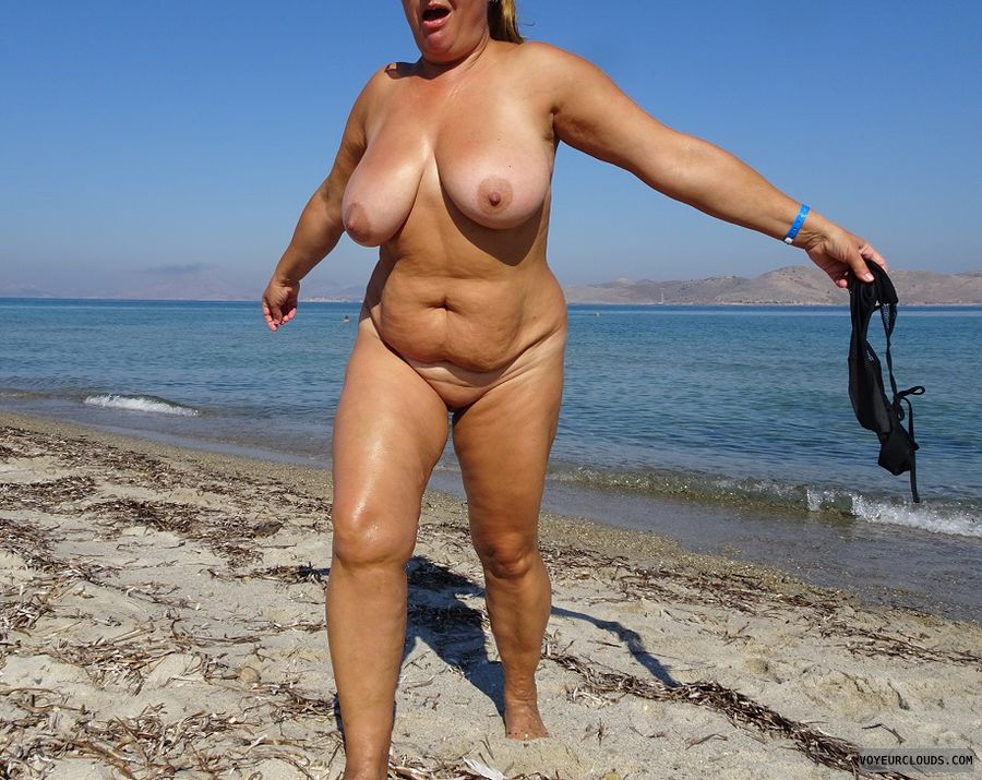 naked, beach, tits