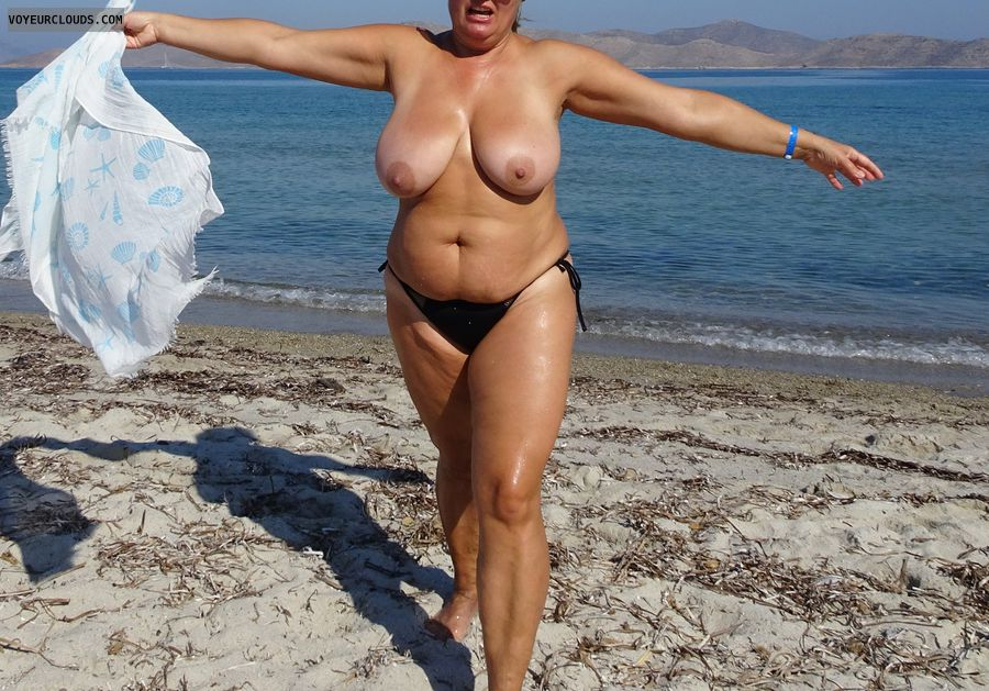 topless, beach