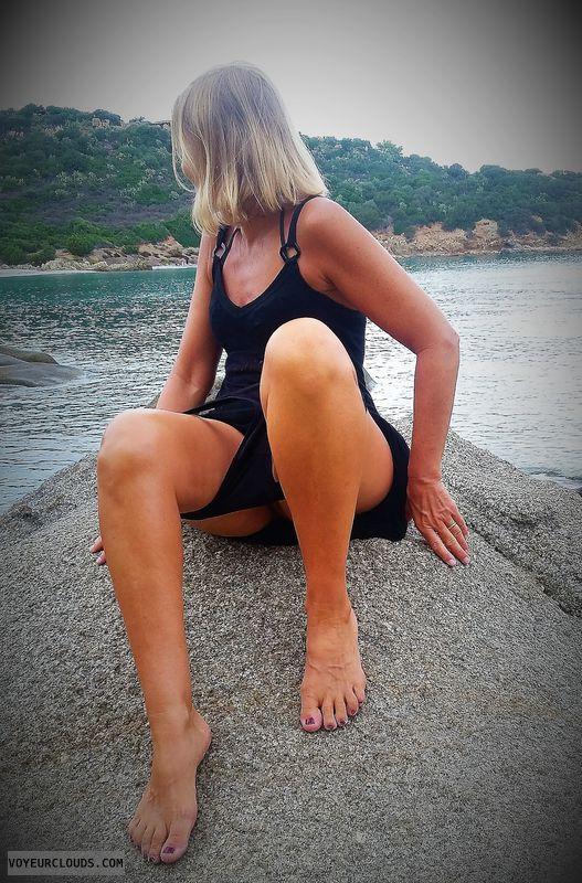 anna, wife, flash, beach, undressing