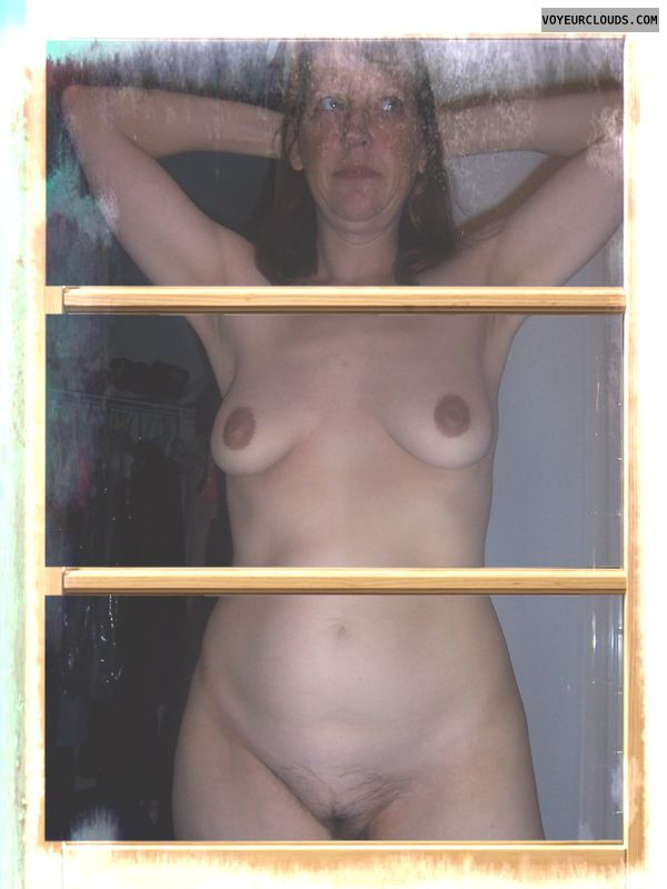 Full frontal, Dark nips, Saggy boobs, OK Pussy, Older