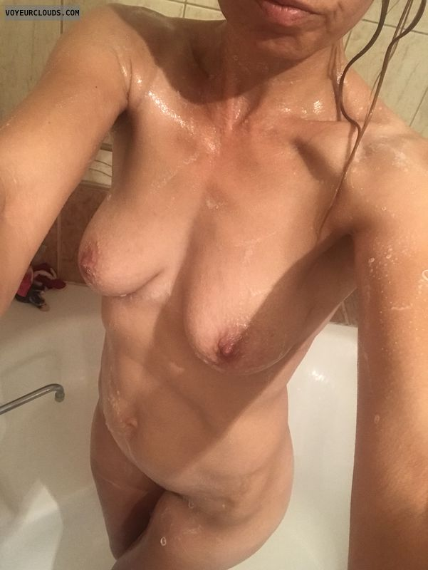 Wife, shower, wet, girl, sexy milf, nurse, amateur