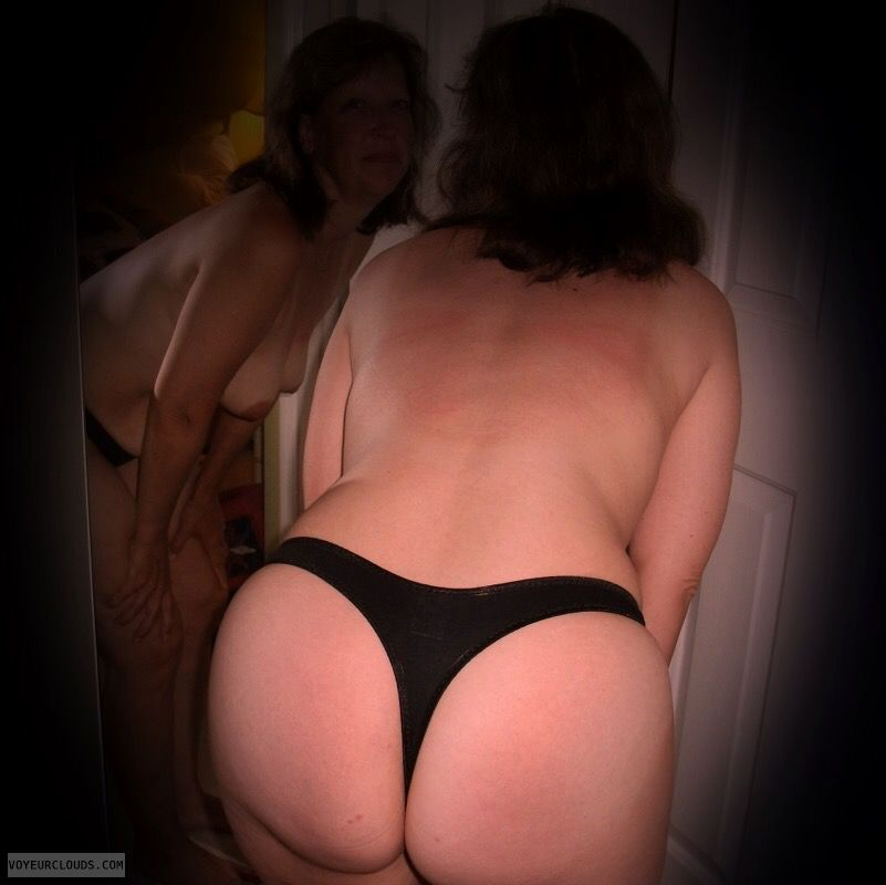 Large Ass, Big Cheeks, Big hips, OK Ass, Older, Thong
