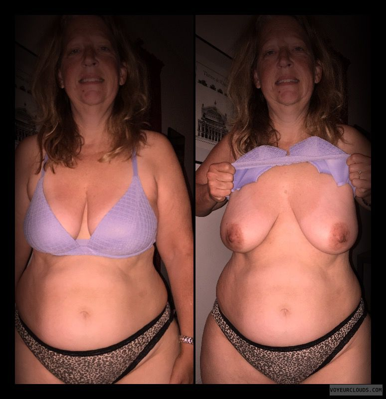 Saggy boobs, Nice smile, Older, OK Tits