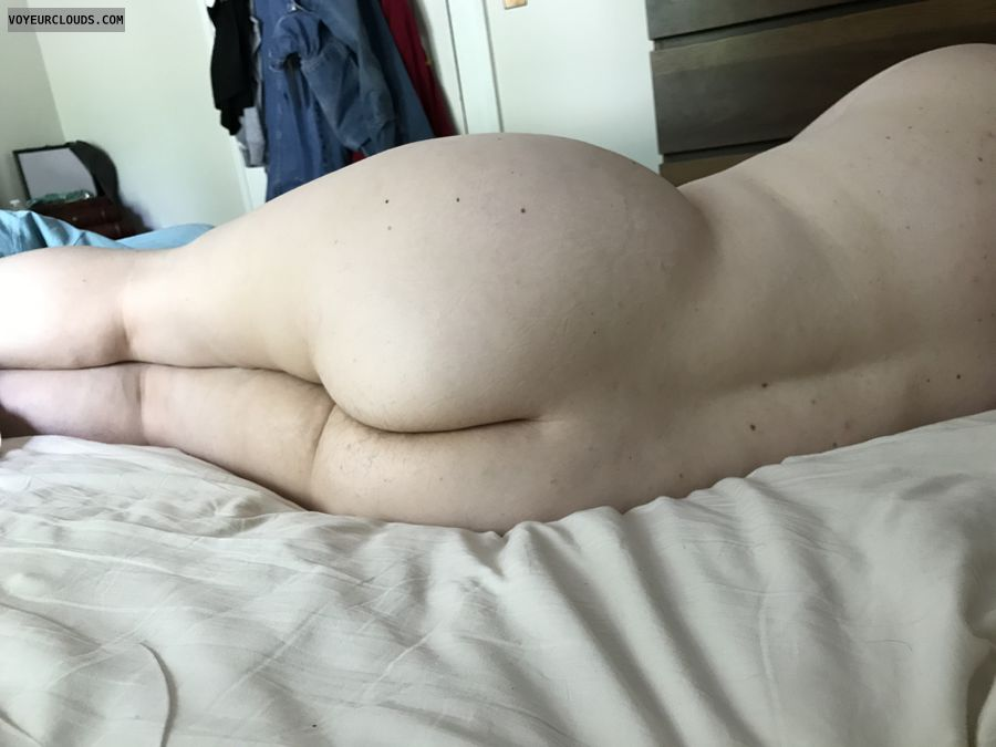 Bare butt, ass, legs, layiing down, bare ass
