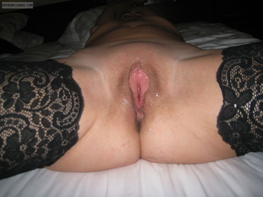 shaved pussy, pussy lips, wet pussy, spread legs, wife pussy