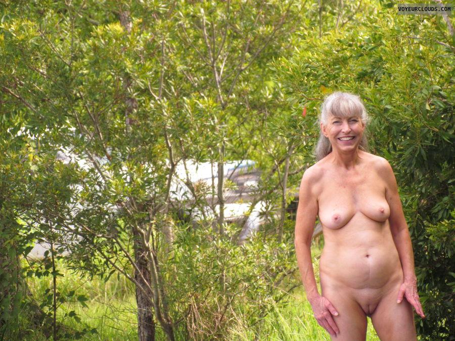 mature wife, nude in public, voyeured