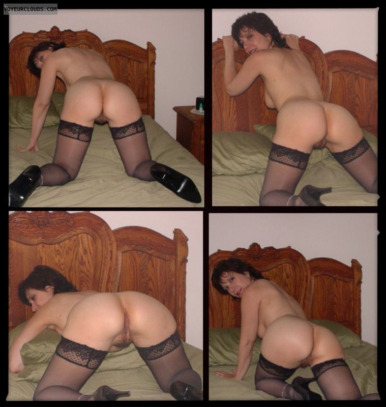 Round Ass, Big Ass, Mature, Wfi, Doggie, Stockings