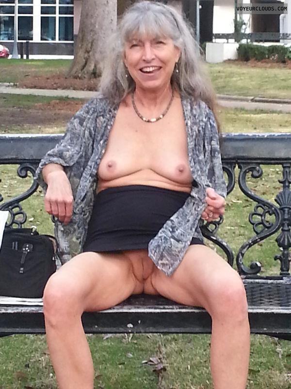 public flash, mature wife, city park