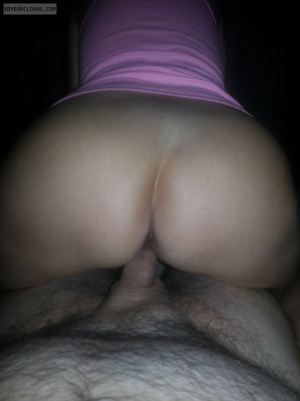 reverse cowgirl, mature wife, nice ass