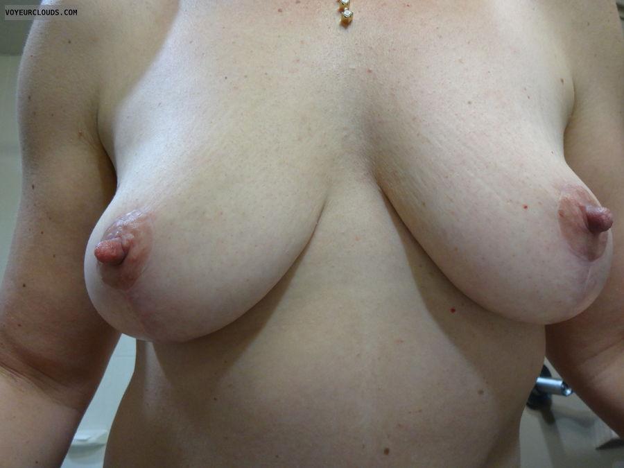 milf tits, hard nipples, big boobs, big tits, topless