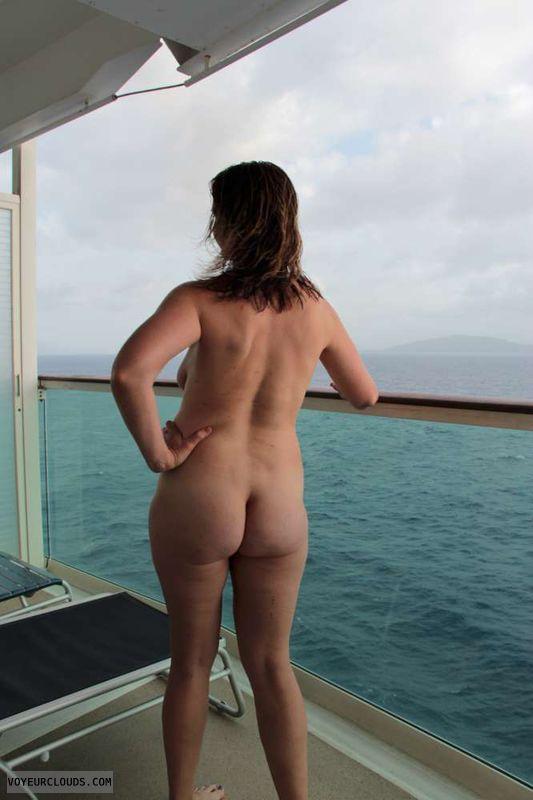 nude milf, milf, ass, butt, tit peek, cruise