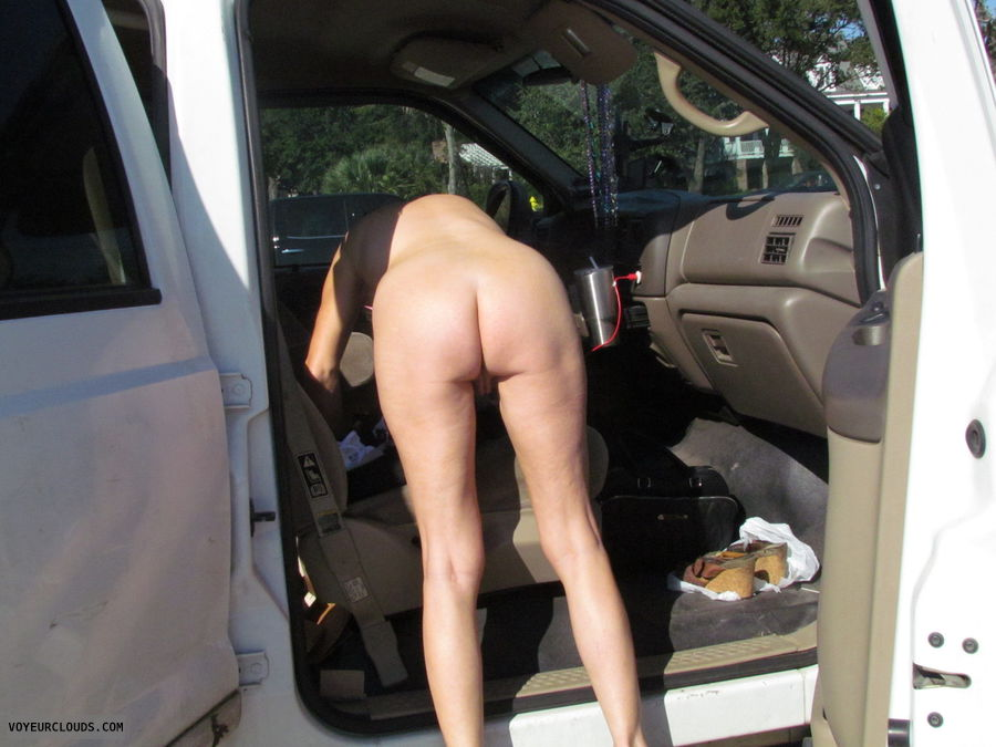 nude in public, ass, pussy