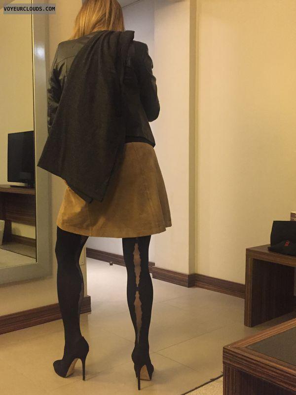 High heels, milf, sexy wife