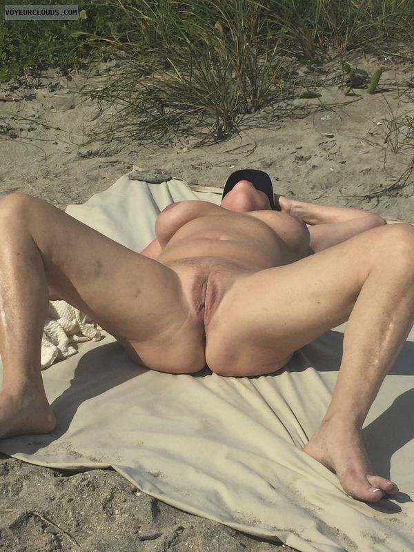 public, beach, pussy, nude, tits, nipples, breasts