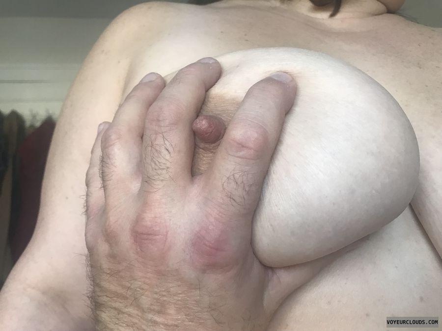 nipple, huge tit, hand squeeze, MILF